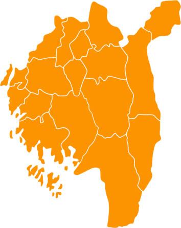 Kart Østfold