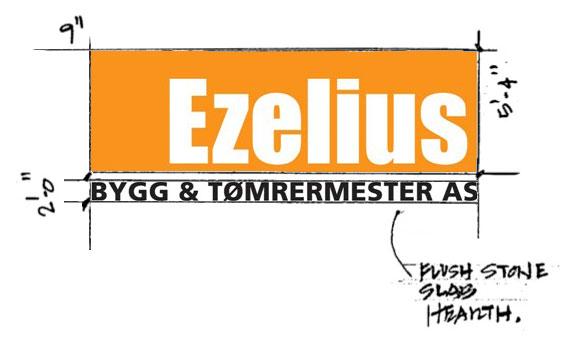 Ezelius logo skisse
